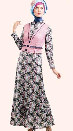 Contoh Untuk Memakai Baju Muslim Gamis Zoya Pipitsiputri